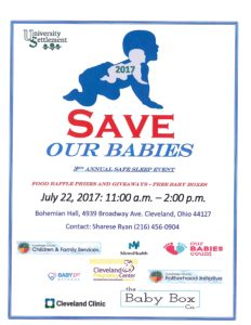 2017 Save Our Babies: 3rd Annual Safe Sleep Event @ Bohemian Hall | Cleveland | Ohio | United States