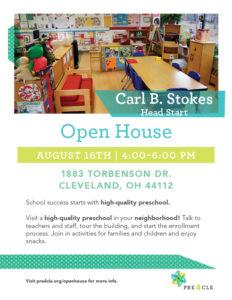 Carl B. Stokes Head Start Preschool Open House @ Carl B. Stokes Head Start | Cleveland | Ohio | United States