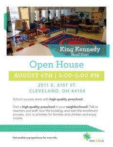 King Kennedy Head Start Preschool Open House @ King Kennedy Head Start | Cleveland | Ohio | United States