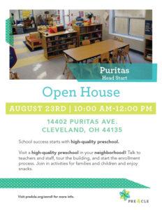 Puritas Head Start Preschool Open House @ Puritas Head Start | Cleveland | Ohio | United States