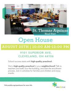 St. Thomas Aquinas Head Start Preschool Open House @ St. Thomas Aquinas Head Start | Cleveland | Ohio | United States