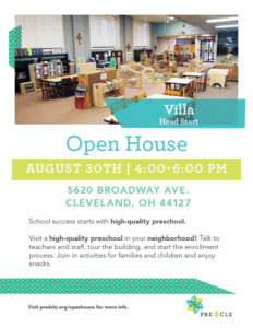 Villa Head Start Preschool Open House @ Villa Head Start | Cleveland | Ohio | United States