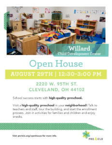 Willard Head Start Preschool Open House @ Willard Head Start | Cleveland | Ohio | United States