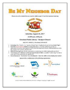 Be My Neighbor Day @ Cleveland Public Library - Rockport Branch | Cleveland | Ohio | United States