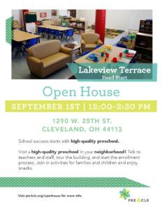 Lakeview Terrace Head Start Preschool Open House @ Lakeview Terrace CMHA Multipurpose Room   San Bernardino   California   United States