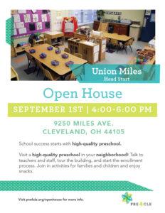 Union Miles Head Start Preschool Open House @ Union Miles Head Start   Cleveland   Ohio   United States